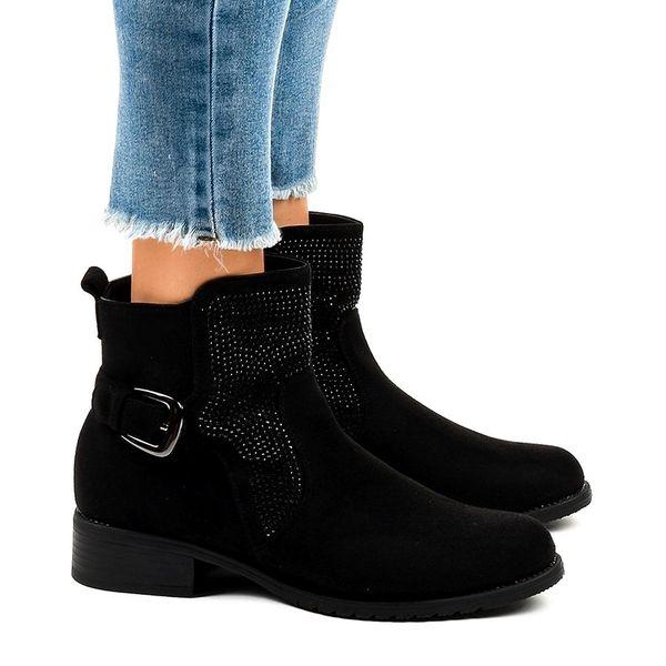 Czarne zamszowe botki ćwieki buty damskie CZ220 40 Ceny i