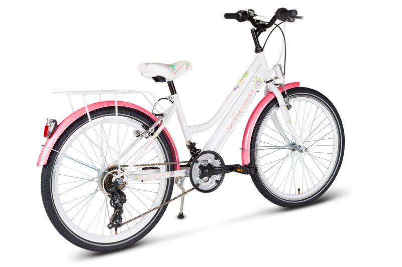 Rower 24 KANDS LAGUNA VS-2 stożek biało-różowy zdjęcie 9