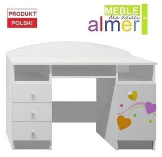 KOLOROWE SERCA 1 - NB7 biurko dziecięce 120x50 w.74