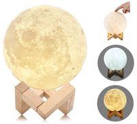 Lampka nocna księżyc 3D Moon Light Dotykowa ze ściemniaczem G236