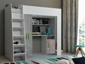 Łóżko piętrowe FIGO antresola szafki zestaw RIBES zdjęcie 10
