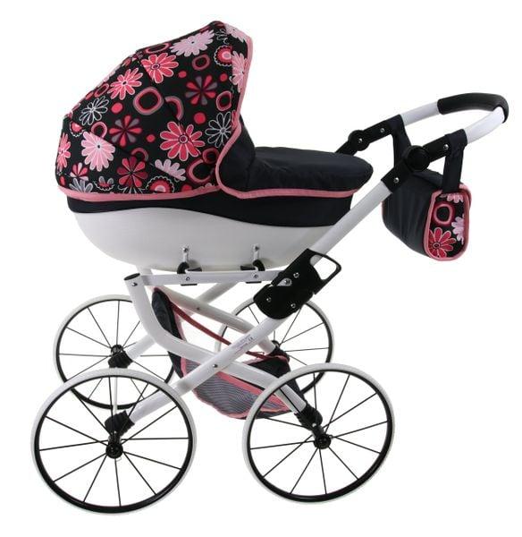 DUŻY Solidny POLSKI Wózek dla lalek lalkowy RETRO Metalowe koła zdjęcie 3