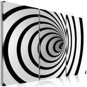Obraz - zakręcona czerń i biel Rozmiar - 120x80