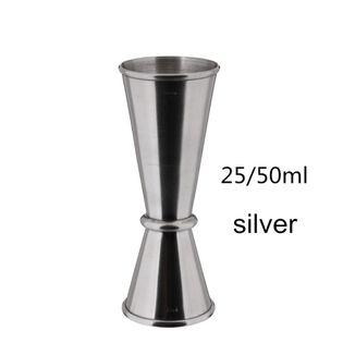 SHAKER Do Drinków i Koktajli -  Stalowy - DRINK BAR 25x50ml Srebrny