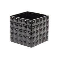 Nowoczesna osłonka ceramiczna czarna 14x13 3D kwadrat