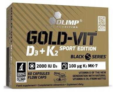 Witaminy Gold-Vit D3 + K2 sport edition 60 kapsułek Olimp