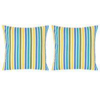 Poduszki, 2 szt., z nadrukiem, kolorowe, 40x40 cm, bawełna