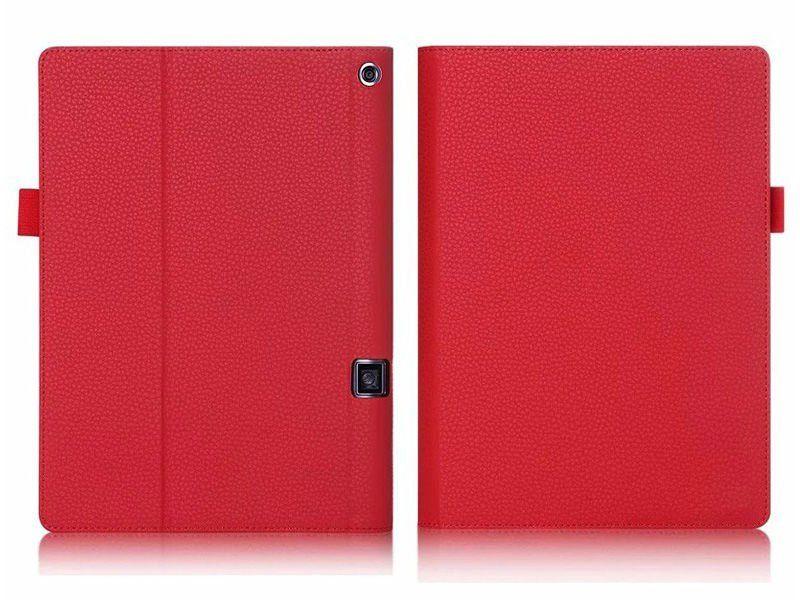 """Etui skórzane Lenovo Yoga Tab 3 Pro 10"""" X90 Czerwone + Klawiatura zdjęcie 2"""