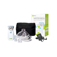 Inhalator Membranowy Siateczkowy Intec Twister Mesh + zasilacz 2 Maski