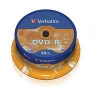 Verbatim DVD-R 16x 4.7GB 25P CB           43522