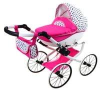 DUŻY Solidny POLSKI Wózek dla lalek lalkowy RETRO Metalowe koła