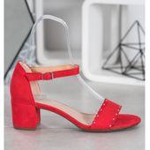 Zamszowe Sandały Z Perełkami r.36