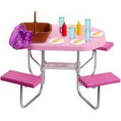 Barbie Zestaw Meble Ogrodowe Stół Piknikowy