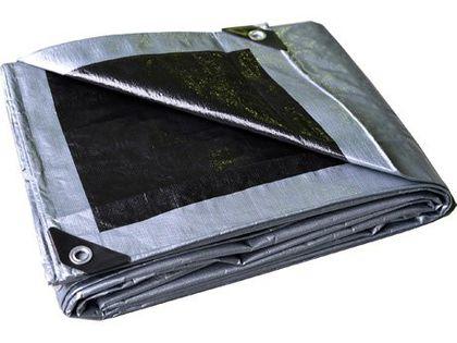 Plandeka 6x8 (srebrno-czarna), najgrubsza 260g/m2
