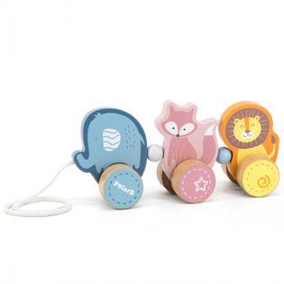 Drewniana zabawka zwierzątka do ciągnięcia Viga Toys