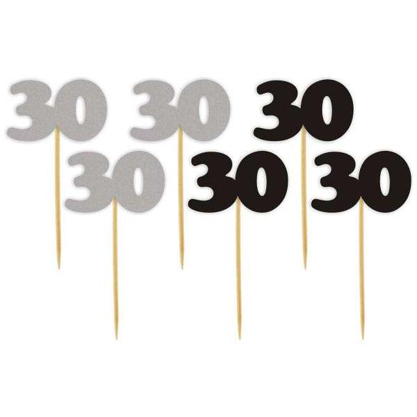 Dekoracja Ozdoba Piker Na 30 Urodziny Srebrno Czar Arenapl