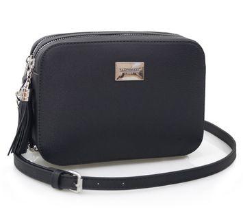 FLORA&CO torebka listonoszka V229 czarna