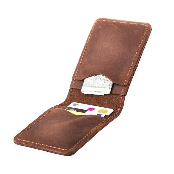 14cea8dfa22e1 Ciemno brązowy cienki portfel slim wallet Brodrene • Arena.pl