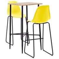 3-częściowy zestaw mebli barowych plastik żółty VidaXL