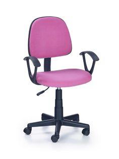 Fotel do biurka DARIAN BIS młodzieżowy RÓŻOWY