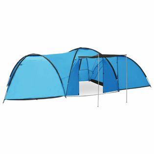 Namiot turystyczny typu igloo, 650x240x190 cm, 8-os., niebieski