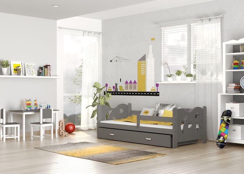 Łóżko dla dzieci MIKOŁAJ COLOR 160x80  szuflada + materac zdjęcie 8