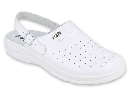 Dr Orto MED - Obuwie buty męskie klapki sanitarne białe skórzane 44