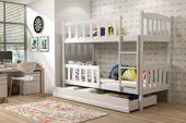 Łóżko piętrowe dla dzieci Kubuś 190x80 dziecięce + MATERAC + SZUFLADA zdjęcie 2