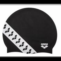 ARENA ELASTYCZNY CZEPEK TEAM STRIPE CAP BLACK BASEN TRENING