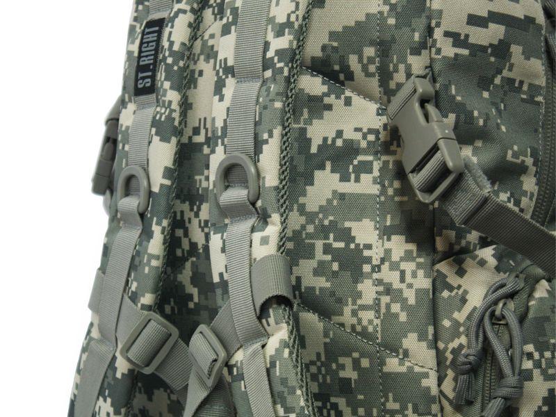 Dwukomorowy plecak szkolny St.Right 30 L, Military Moro BP36 zdjęcie 8