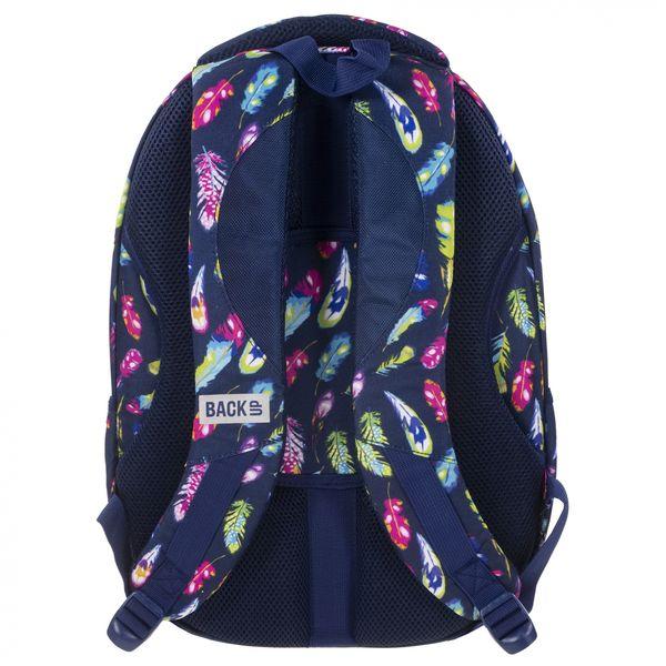 26f32a48257ce Plecak szkolny młodzieżowy Back UP kolorowe piórka FEATHERS + słuchawki  (PLB1C24) zdjęcie 3