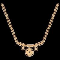 naszyjnik łańcuszkowy złoto 585/14k z cyrkoniami