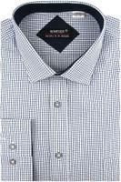 Koszula Męska Koneser niebieska w kratkę na długi rękaw w kroju REGULAR A428 L 41 182/188