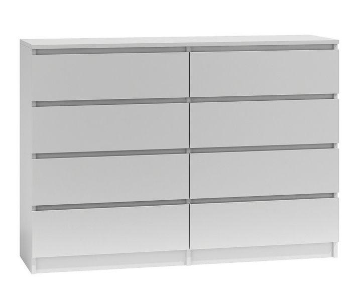 Duża komoda szafka 8 szuflad 140cm * kolor biały zdjęcie 1