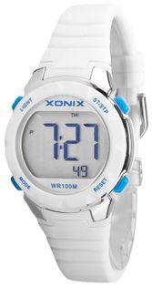 Xonix Mały i lekki zegarek sportowy, wielofunckyjny, alarm, podświetlenie, antyalergiczny, WR 100M