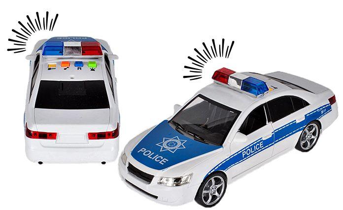 Samochód policyjny Radiowóz interaktywny dźwięki i światła Y260 zdjęcie 9