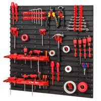 Tablica ścianka narzędziowa do garażu + 36 uchwytów, 2 półki PRO-MIX54