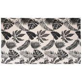 Dywan z motywem liści czarny 120x180 cm