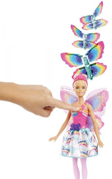 Lalka Barbie Wróżka Latające Skrzydełka Dreamtopia Mattel FRB08 zdjęcie 5