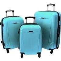 Zestaw 3 walizek PELLUCCI RGL 780 Turkusowe