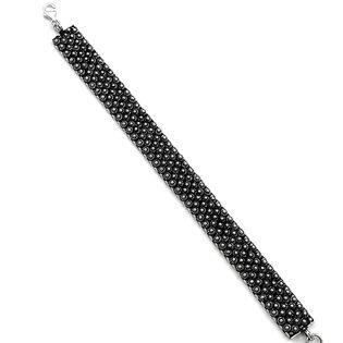 Bransoleta srebrna oksydowana 19 cm