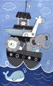 Dywan dla dzieci Diamond Statek 160x230cm zdjęcie 1