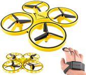 Grawitacyjny Dron Quadcopter 2.4G Sterowany Ręką LED Żółty Z445