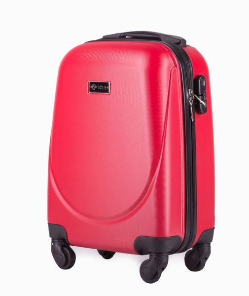 Kabinowa walizka podróżna ABS czerwona S Ryanair Wizzair zdjęcie 1