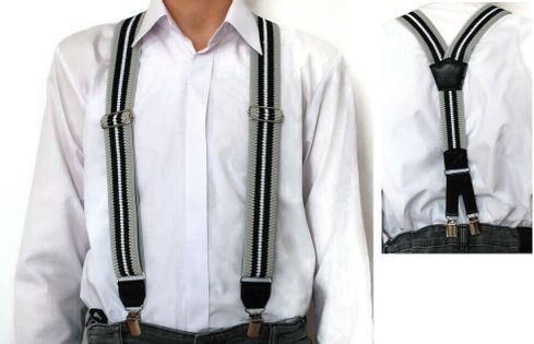 Męskie szelki do spodni na narty motor poski producent paski czarny