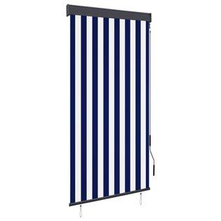 Roleta zewnętrzna, 80x250 cm, niebiesko-biała