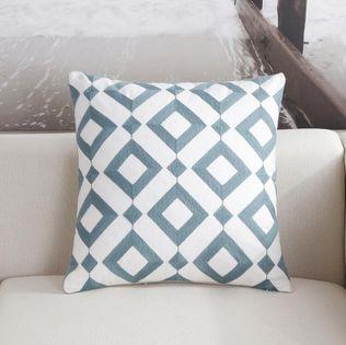 Poszewka na poduszkę we wzory geometryczne Rąby 45x45cm