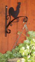 Dekoracyjny wspornik uchwyt wieszak na doniczki kwietnik kogut