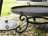 ZESTAW grill palenisko kociołek żeliwny 7l - ES-ER zdjęcie 7