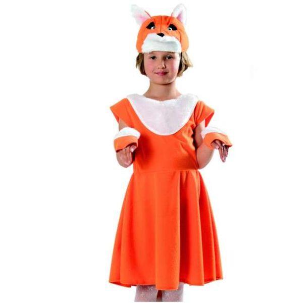 STRÓJ LIS rudy lisek sukienka LISICZKA bal 134/140 zdjęcie 1
